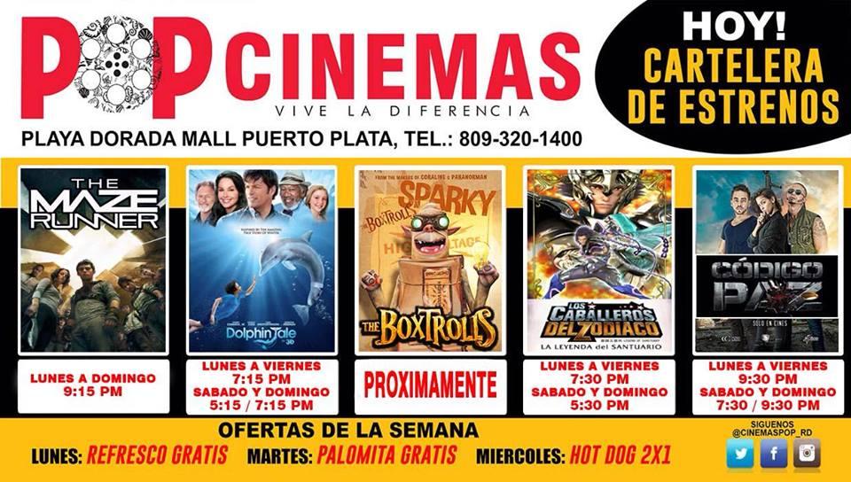 Cartelera cinemas pop puerto plata digital - Cartelera cine de verano aguadulce ...